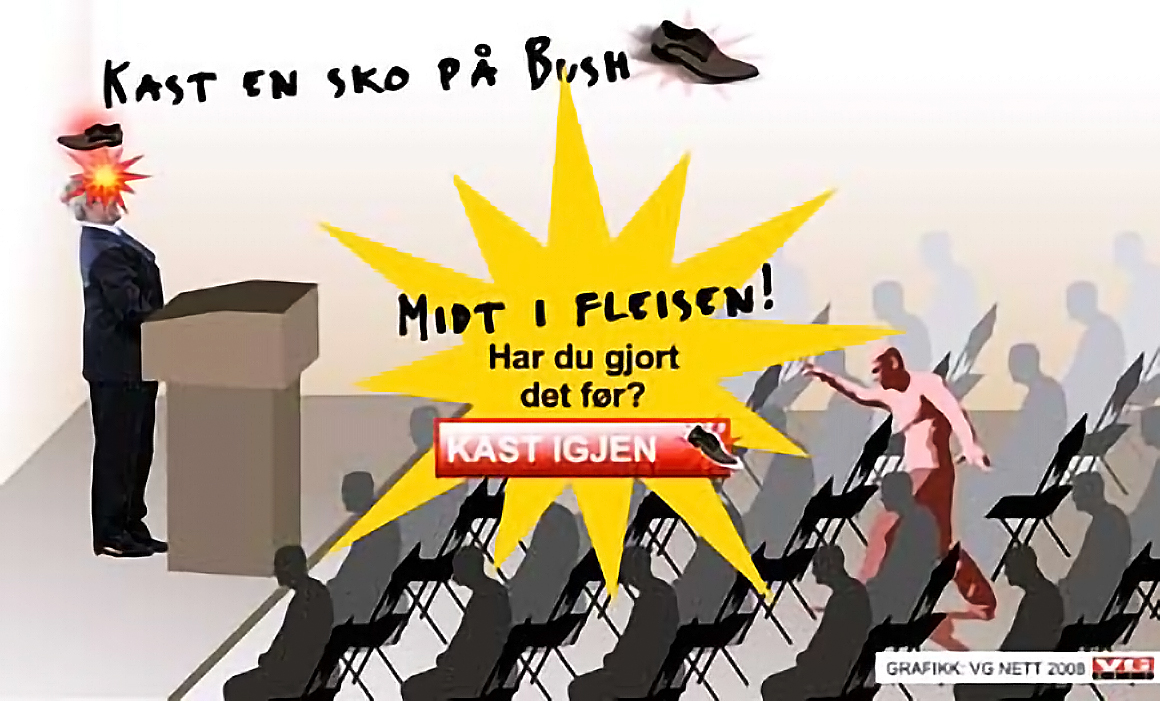 Iraqi Shoe-Tossing — the animated GIFs