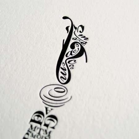 Beautiful Letterpress Poster