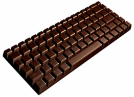 Chocolate Keyboard — Just what I need at 4pm…