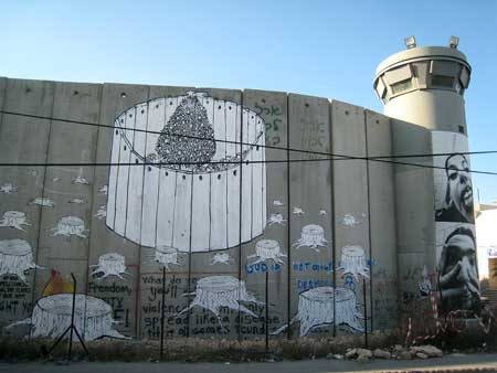 Spray your tag on the West Bank wall