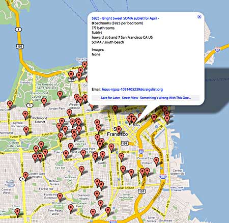 PadMapper—Apartment and house rental listing Google API