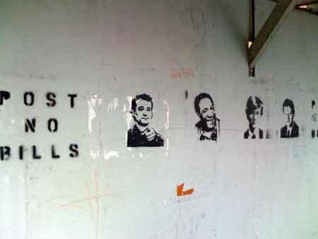 Post No Bills — Funny Graffiti