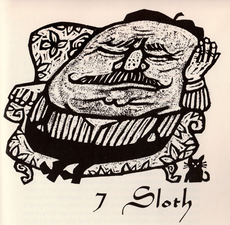 7 Deadly Sins —  woodblock prints
