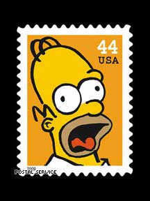 """The Simpsons"" — US Postage Stamps"