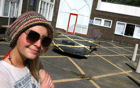 Art student creates invisible car