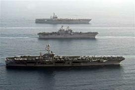 U.S. Navy Sends Carriers Near Iran