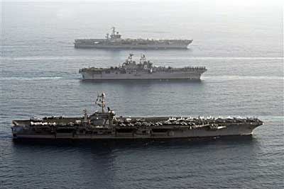 U.S. Navy Sends Carriers Near Iran