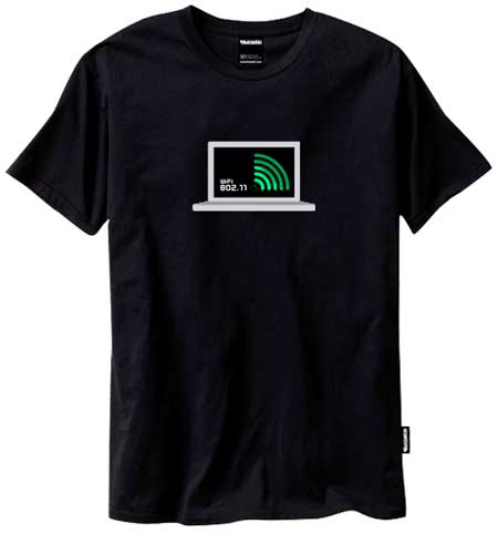 Coolest T-Shirt you'll see today, animated wifi signal detector