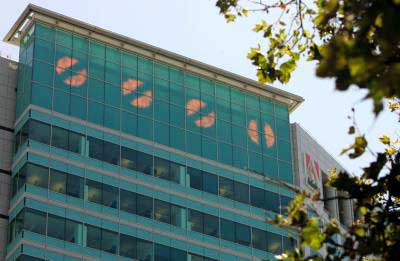 After one year, the code atop of an Adobe® building is cracked