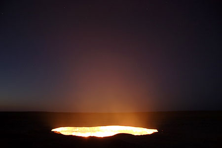 Burning Gas Crater in Turkmenistan