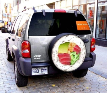 Jeep Sushi Delivery