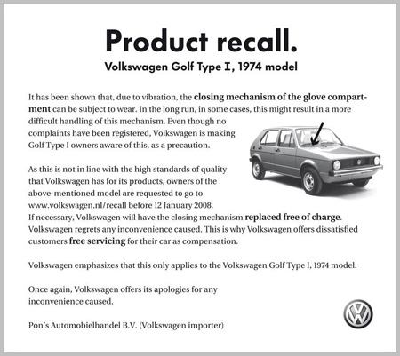 Clever VW Ad — Clio winner