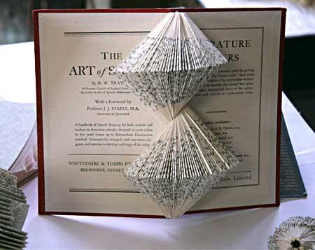 Book sculptures by Nicholas Jones