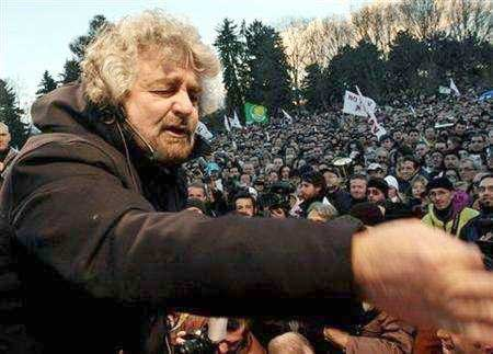 """Beppe Grillo, Italian satirist's """"Vaffanculo-day"""" (or F-off day) to old, jaded politicians"""