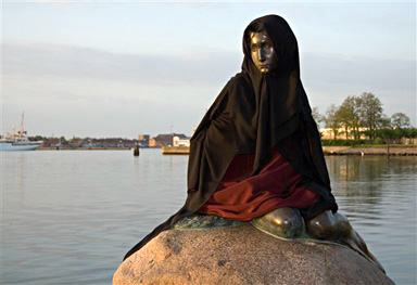 Little Mermaid sporting a Burka